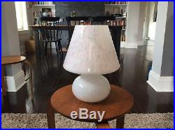 RARE Mid Century Modern Murano Italy Confetti Art Glass Mushroom Table Lamp