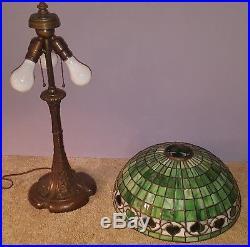 RARE Wilkinson Arts & Crafts Leaded Slag Stained Glass Lamp Handel Duffner Era