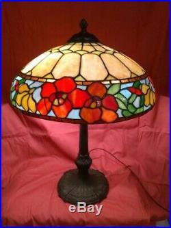 ROYAL ART GLASS leaded Lamp Handel Tiffany Studios Duffner arts & crafts era