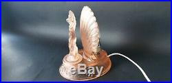 Rare Art Deco Pink Frosted Glass Arabella Lamp by Walther and Sohne c. 1935
