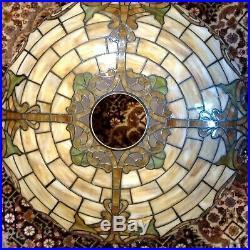 Rare Williamson Chicago leaded Glass lamp -Handel Tiffany arts crafts slag era