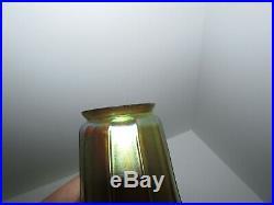 Set of 6 Signed Steuben Aurene Iridescent Art Glass Lamp Shades 427
