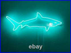 Shark Turquoise Neon Sign Acrylic Light Lamp Gift Glass Artwork With Dimmer