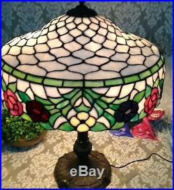 Signed Chicago Mosaic leaded glass lamp Handel Tiffany Duffner arts & crafts