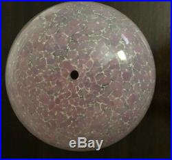 Signed La Rochere French Art Glass Pink & White Cased Glass Lamp