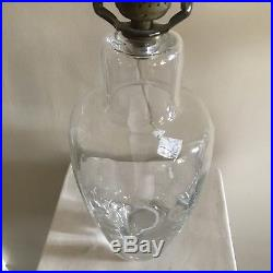 Signed Simon Pearce Hand-blown Glass Table Lamp