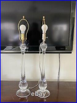 Simon pearce glass lamp tall PAIR