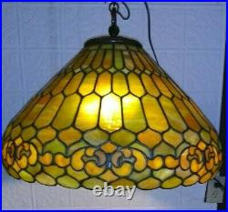 Solid Duffner & Kimberly leaded glass lamp Handel Tiffany Studios arts crafts