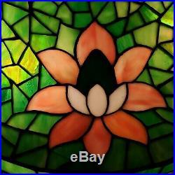 Suess Arts & Crafts Leaded Slag Stained Glass Lamp Tiffany Handel Duffner Era