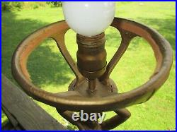 Tall Gorgeous Art Deco Nude Lady Lamp With Mint Green Glass Shade