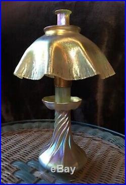 Tiffany Studios Favrile Original Art Nouveau Oil Lamp