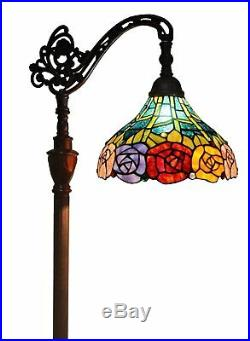 Tiffany Style Floor Lamp Art Deco Stained Glass Light Industrial Style Lighting