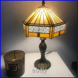 Tiffany Style Table Lamp Antique Handcrafted Art Stained Glass Bedside Desk Lamp