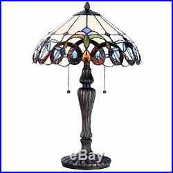 Tiffany Style Victorian Floral Stained Glass Table and Desk Light Art Decor Gift