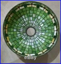 Tiffany Style WILKINSON leaded lamp Handel Duffner arts crafts slag glass era