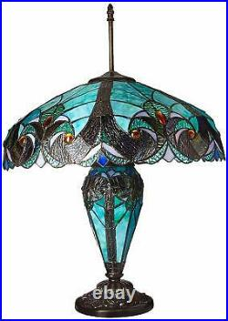 Tiffany Table Desk Lamp Stained Glass Mission Style Lighting Slag Art Victorian