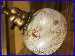 Tiffany studios L. C. T bronze lamp art glass damascene favrile shade handel era