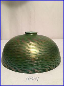 Tiffany Studios Favrile Steuben Damascene Art Glass Lamp