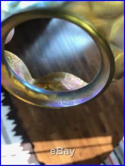 Tiffany studios lct favrile damascene art glass lamp handel bradley hubbard era