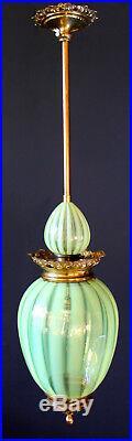 URANIUM VASELINE PENDANT Lamp Petit Art Nouveau Art Deco Bohemia Chandelier