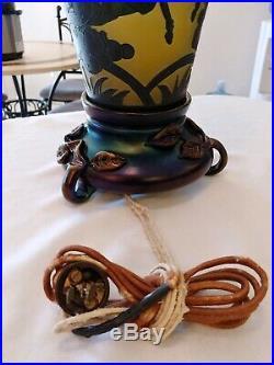 Ultra Rare Carder era Steuben PEGASUS LAMP Shape #8496 AWESOME PROVENANCE
