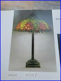 Unique Art Glass Company Yellow Rose Antique Lamp Tiffany, Handel, Duffner era