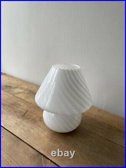 Vetri murano Swirl italian art glass mushroom lamp modern midcentury