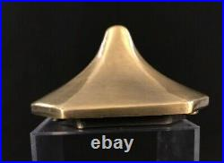 Vintage ART DECO NUDE FEMALE Torchiere Lamp frosted satin green glass