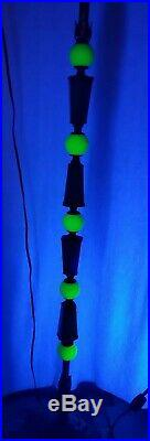 Vintage Art Deco Jadeite & Vaseline HOUZE Glass Floor Bridge Lamp. Rewired