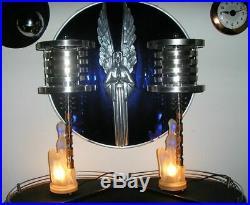 Vintage Art Deco Lamps withDesigner Fabric Shades Jadeite Glass-Best Lamps on eBay