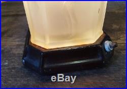 Vintage Art Deco Nude Figure Lady Table Lamp Heavy Old Glass Beautiful