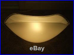 Vintage Large Mid Century Modern Murano Italy Hand Blown Art Glass Table Lamp
