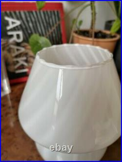 Vintage MUSHROOM TABLE LAMP VETRI MURANO Glass design 70s Lampada Fungo, Italy