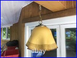 Vintage Mid Century Modern Murano Art Glass Hanging Pendant Light Lamp