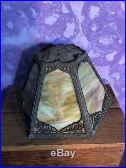 Vintage Miller Arts & Crafts Nouveau Slag Glass Lamp Shade 7 Tall