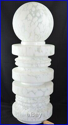 Vintage Murano White Ventri Art Cloud Gigantic Lamp 34 Tall