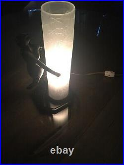 Vintage SARSAPARILLA Art Glass Art Deco Nouveau Nude Lady Lamp