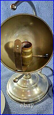 Vtg ART DECO 1939 World's Fair Saturn Lamp milk glass chrome Rare mid century