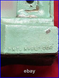 Vtg FRANKART Lamp Green ART DECO Nude Lady Frosted Glass Orig