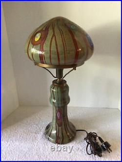 Vtg Rare Italian Venetian Murano Fratelli Toso Millefiori 21.5 Mushroom Lamp