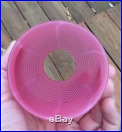 Webb Nailsea Art Glass Cranberry Fairy Lamp Shade
