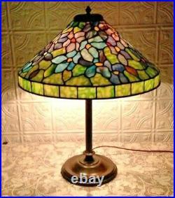 Whaley school leaded glass lamp Handel Tiffany duffner arts crafts era slag
