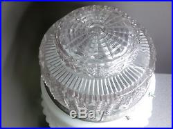 White Clear Glass Art Deco Skyscraper Ceiling Light Lamp Shade 12T x6 Fitter