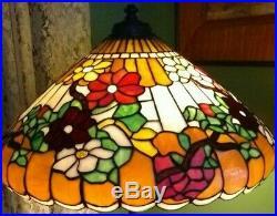 Wilkinson Leaded Glass lamp SHADE ONLY Handel Tiffany Arts & Crafts slag era