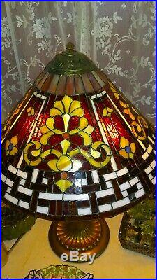 Wilkinson Rare Russian leaded glass lamp Handel Tiffany Duffner arts & crafts